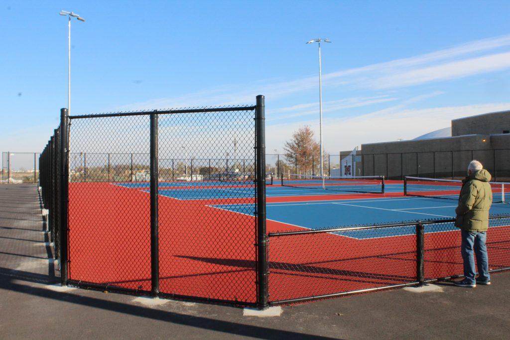 Marshalltown Iowa tennis courts at Marshalltown High School